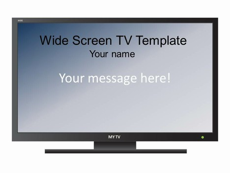 Widescreen televison set template for Hdtv antenna template