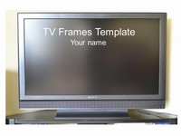 Wide-screen TV Frame Template thumbnail
