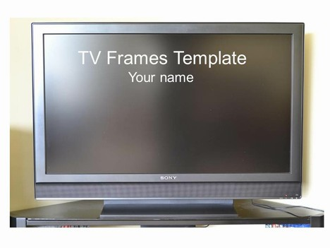 Tv powerpoint templates yeniscale wide screen tv frame template tv powerpoint templates toneelgroepblik Gallery