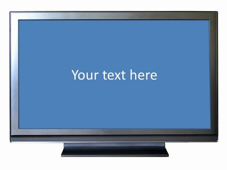 Wide-screen TV Frame Template inside page