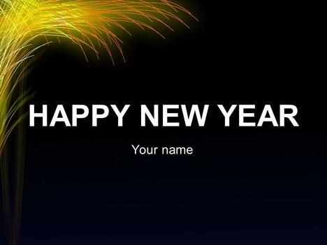 new year template, Powerpoint templates