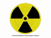 Coloured Radiation Warning Sign Graphics