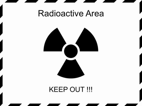 Radiation Warning Sign Graphics inside page