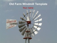 Old Farm Windmill Template thumbnail