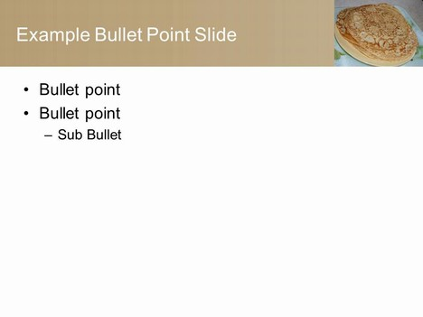 Pancake PowerPoint Template inside page