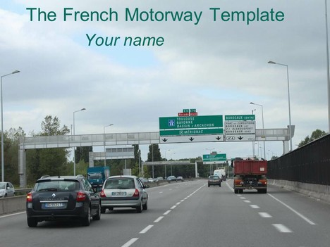 French Motorway Template