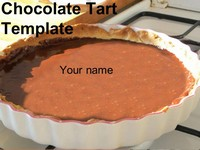 Chocolate Tart PowerPoint Template thumbnail