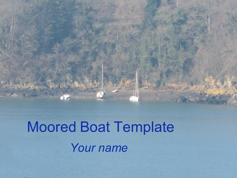 Moored Boat PowerPoint Template