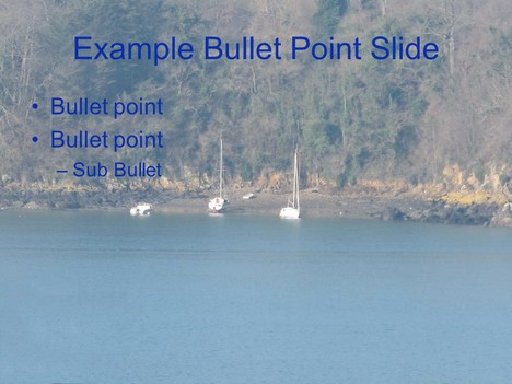 Moored Boat PowerPoint Template inside page