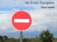 No Entry PowerPoint Template thumbnail