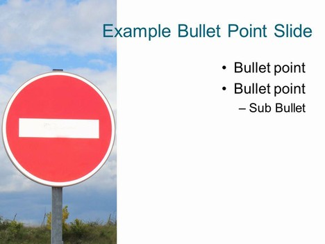 No Entry PowerPoint Template inside page