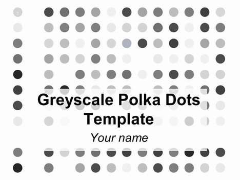 Greyscale Polka Dots Background