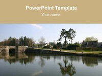 Free river powerpoint template bridge over a river template toneelgroepblik Image collections