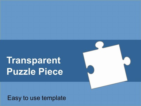 transparent puzzle piece template, Modern powerpoint