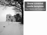 Snow-Covered Castle Template