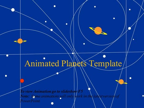 Animated planets template toneelgroepblik Images