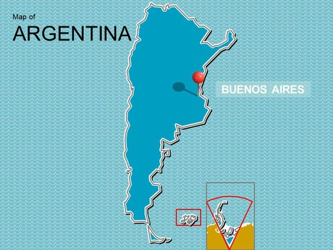 Map of Argentina PowerPoint Presentation