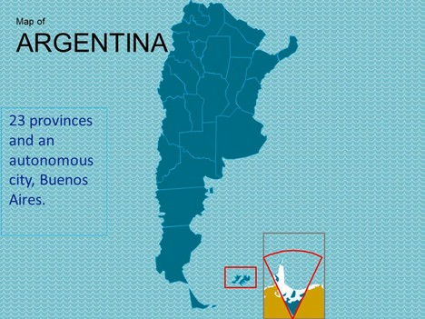Map of Argentina PowerPoint Presentation inside page