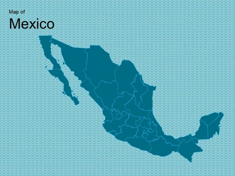Map of mexico template for Mexican themed powerpoint template