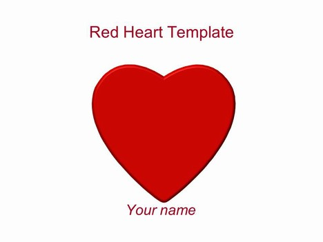 Red Hearts PowerPoint Template