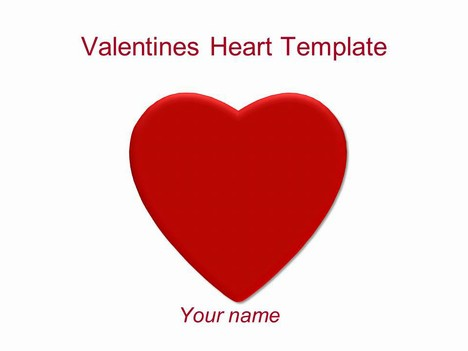 Valentine's Heart PowerPoint Template