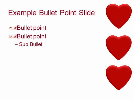 Valentine's Heart PowerPoint Template inside page