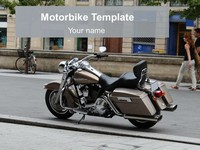 Free Motorbike PowerPoint Template thumbnail