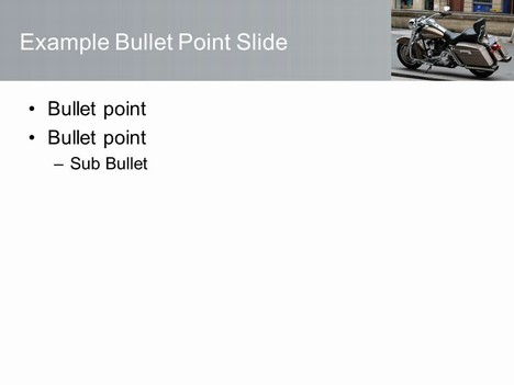 Free Motorbike PowerPoint Template inside page