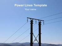 Power Lines PowerPoint Template thumbnail