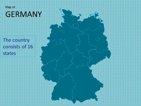 Map of Germany Template inside page