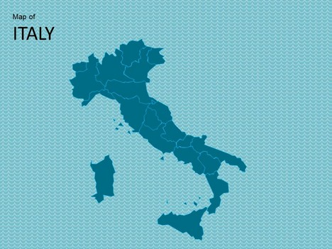 map of italy template, Modern powerpoint