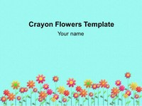 Crayon Flowers Background Template thumbnail