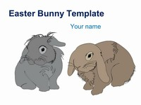 Easter Bunny PowerPoint Template thumbnail