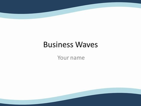 business wave powerpoint template, Powerpoint
