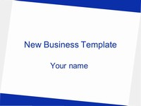 Free New Business Template