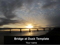 Bridge at Dusk Template