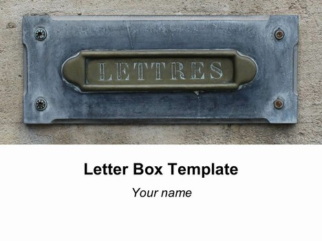 Letter box template powerpoint1g spiritdancerdesigns Image collections