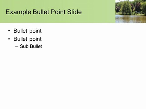 Free River PowerPoint Template inside page