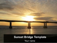 Sunset Bridge PowerPoint thumbnail