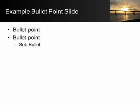 Sunset Bridge PowerPoint inside page
