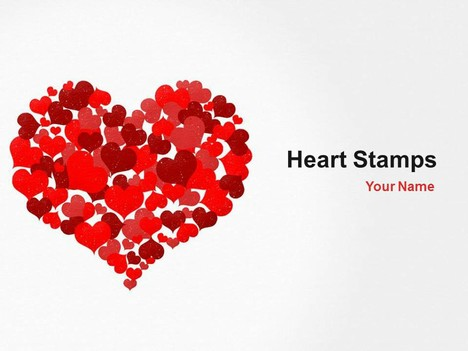 Heart stamps powerpoint template toneelgroepblik Gallery