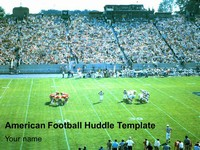 American Football Huddle Template thumbnail