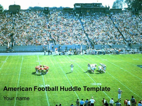 American Football Huddle Template