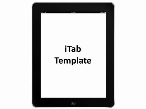 iTab Portrait Template inside page