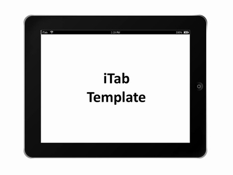 iTab Landscape Template inside page