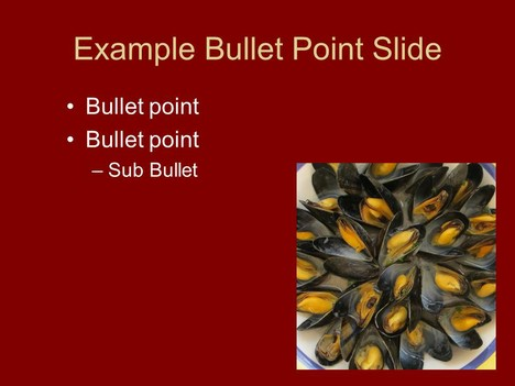Mussel PowerPoint Template inside page