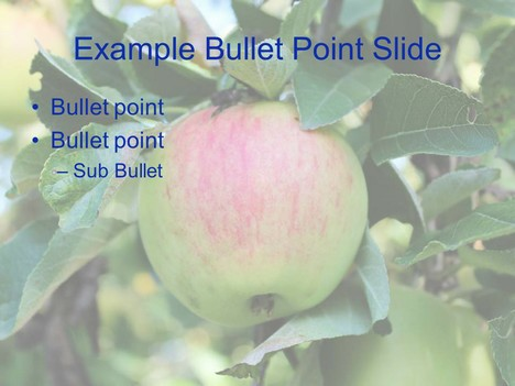 Apple PowerPoint Template inside page