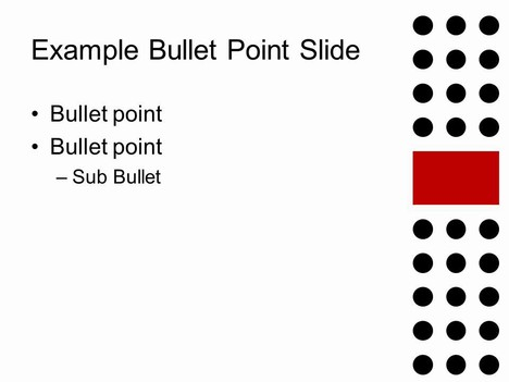 Dot Wrapped Ribbon PowerPoint inside page