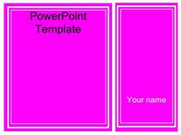 Pink Frames Template