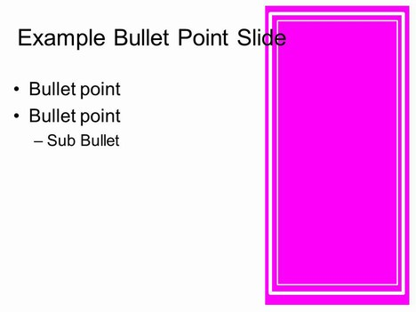 Pink Frames Template inside page